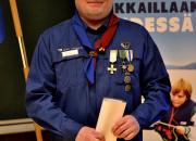 Sankarimerkki partiojohtaja Harri Nummiselle