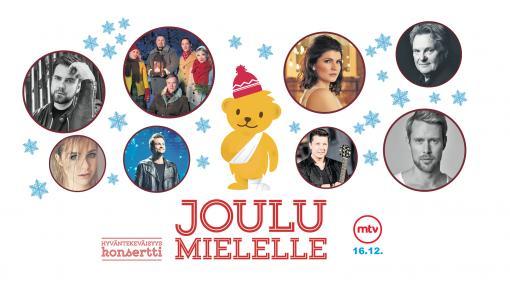 Kummien JouluMielelle-hyväntekeväisyyskonsertti Helsingin Kulttuuritalolla ke 28.11. ja MTV3:lla su 16.12. – tervetuloa mukaan!