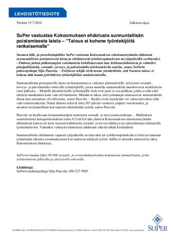 tiedote_super-vastustaa-kokoomuksen-ehdotusta-sunnuntailisien-poistamisesta-laista_15072016.pdf