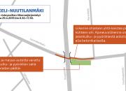 Vt 5 Mikkeli–Nuutilanmäki: Siltavalun liikennejärjestelyt vaikuttavat Launialankadun liikenteeseen maanantaina 29. huhtikuuta