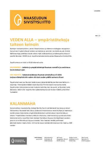 veden-alla_tiedote_15.6.2016.pdf