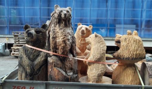 Karhut kevätretkeilevät Ilomantsissa