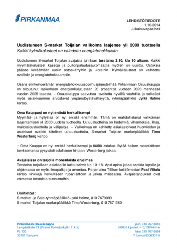 20141001-uudistuneen-s-market-toijalan-valikoima-laajenee-yli-2000-tuotteella.pdf