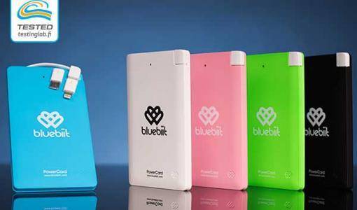 Bluebiit PowerCard 5000 mAh varavirtalähde – 92% Testing Lab testaajista suosittelee
