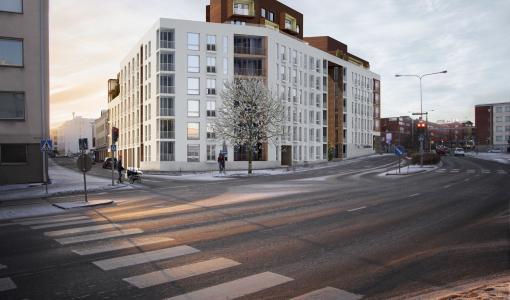 Ensimmäinen hotellipalvelun asuntokohde Rovaniemelle
