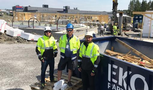 Mangrove Oy tehostaa rakennusjätteen lajittelua työmaillaan
