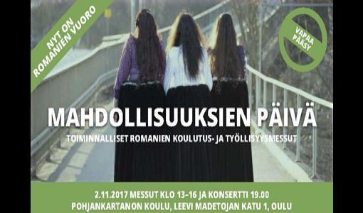 Oulun ensimmäiset romanien koulutus- ja työllisyysmessut 2.11.2017