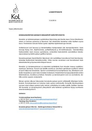 lehdistotiedote_kurssitalkavat_2016.pdf
