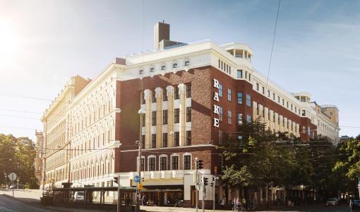 100 vuotta liiketoimintaa Bulevardilla: Rake-talo ja Bulevardi 6 ovat nyt Bulevardin Kulma