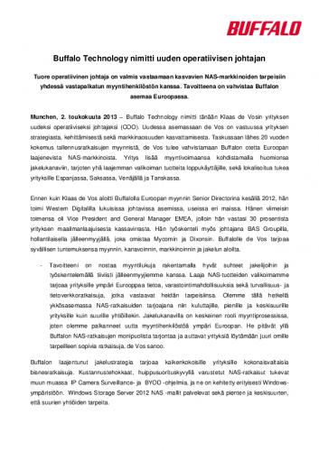 buffalo_tiedote_klaas-de-vos_fin.pdf
