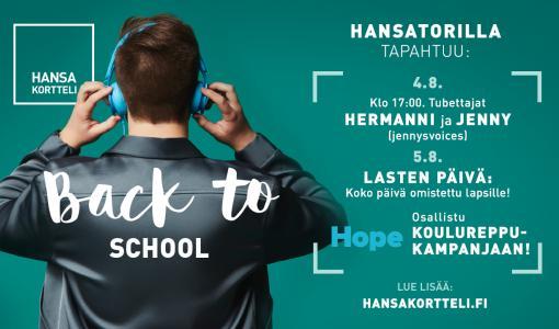 Lahjoita Hansassa uusi reppu – autat kouluvuottaan aloittavaa lasta