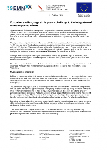 tiedote_emn_111018_yksin-tulleet-alaikaiset_final_en.pdf