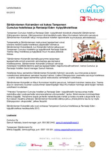 lehdistotiedote_sarkanniemen-koiramaki-tampereen-cumulus-hotelleihin-seka-rantasipi-eden-kylpylahotelliin.pdf