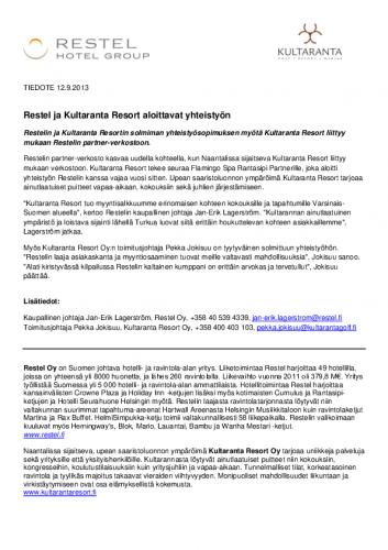 tiedote_restel-ja-kultaranta-resort_2013.pdf