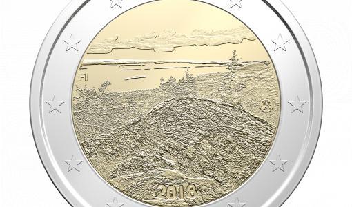 År 2018 utges två specialmynt på två euro och en serie jubileumsmynt på fem euro