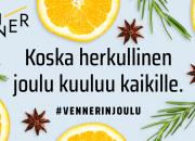 Ruokapalvelu Venner haastaa mahdollistamaan jouluruokaa vähävaraisille perheille – koska joulu kuuluu kaikille